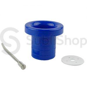 accesorio azul para mate de plastico