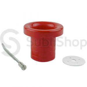 accesorio rojo para mate de polimero
