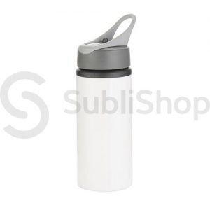 botella blanca de aluminio con pico vertedor 600cc