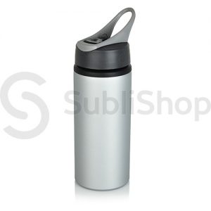 botella plateada de aluminio con pico vertedor 600cc
