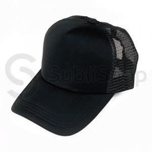 gorra trucker negra para estampar