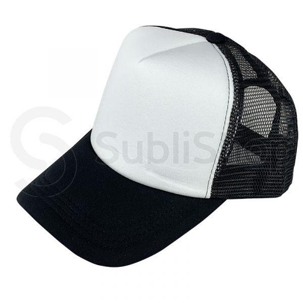 gorra trucker negra para sublimar