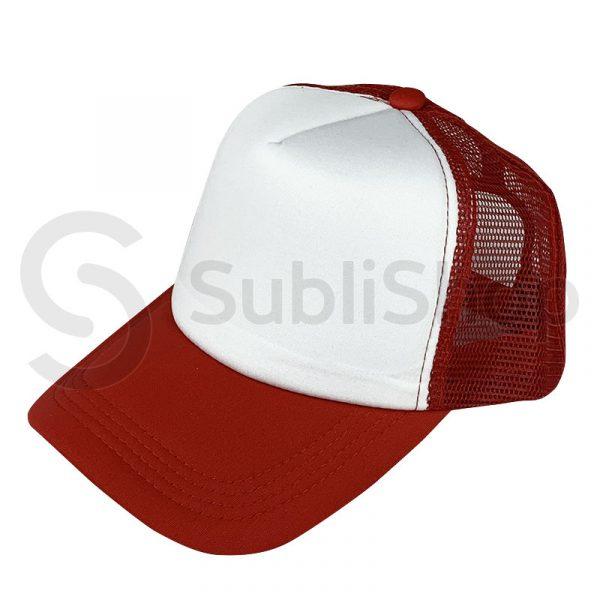 gorra trucker roja para sublimar