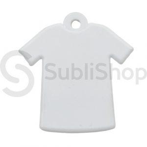 llavero camiseta para sublimar de polimero