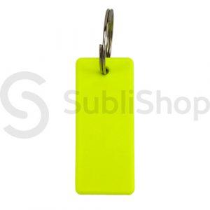 llavero rectangular fluor para sublimar de polimero