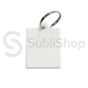 llavero rectangular para sublimar de polimero 60x40