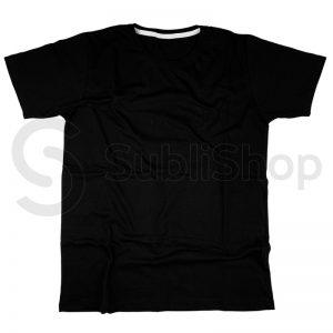 remera algodon negro cardado corte de hombre
