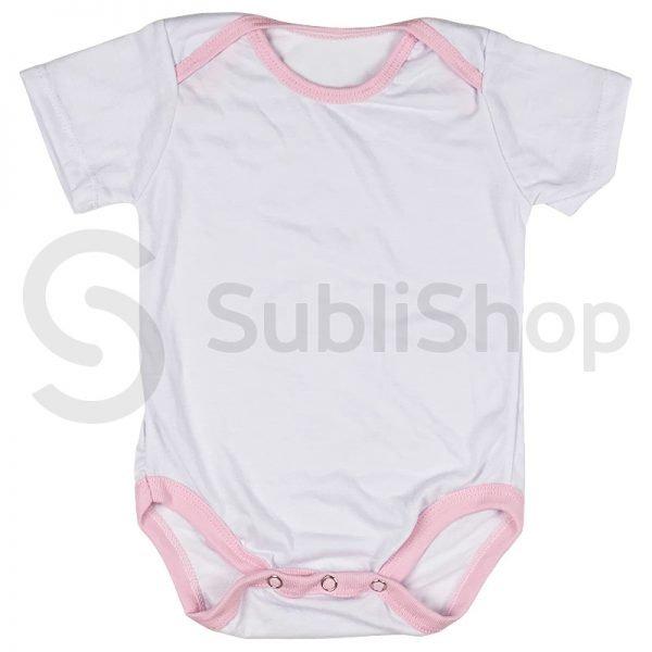 body de bebe blanco con rosa para sublimar