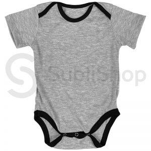 body de bebe gris con negro para sublimar