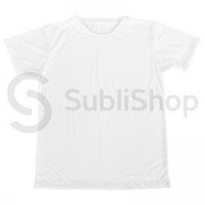 remera blanca para sublimar de spun corte hombre