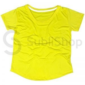 remera para sublimar amarilla mujer