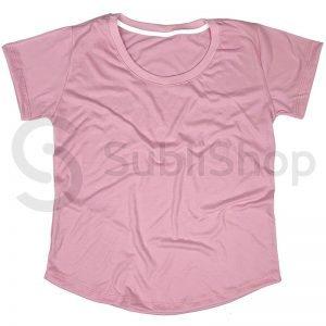 remera para sublimar rosa bebe mujer