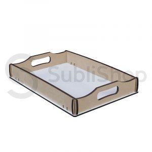 bandeja para sublimar de madera cristal a4