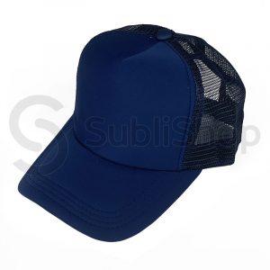 gorra trucker azul marino para estampar