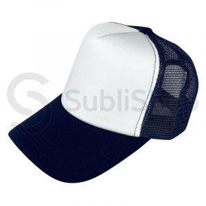 gorra trucker azul marino para sublimar