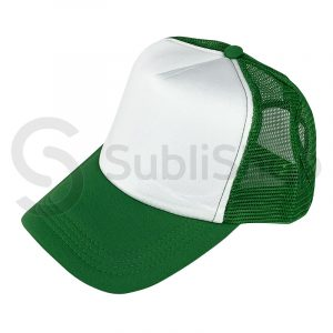 gorra trucker verde benetton para sublimar