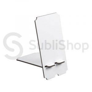porta celular para sublimar de madera cristal