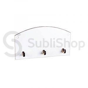 porta llaves para sublimar de madera cristal
