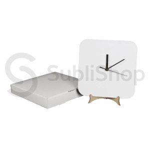 reloj para sublimar cuadrado de madera cristal