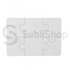 rompecabezas para sublimar con 6 piezas de madera cristal